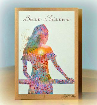 Sunshine Girl Card - Personalised