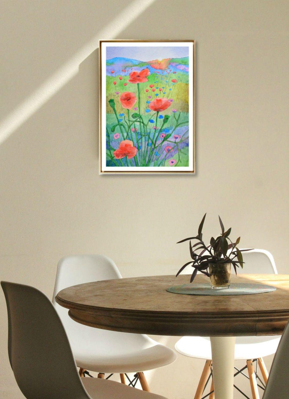 Sunshine and Poppies Print