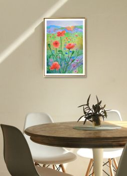 Sunshine and Poppies Print