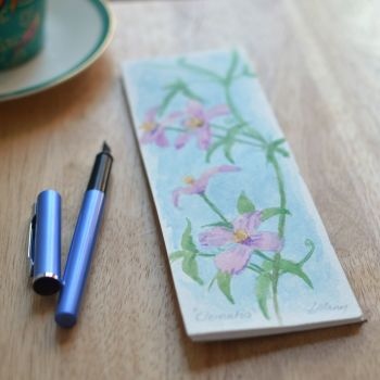 Hand Painted Shopping List Notebook