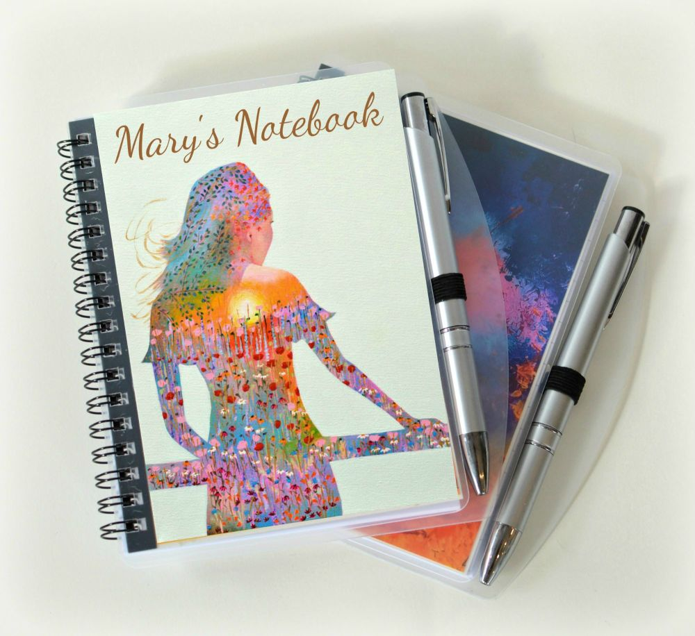 Personalised Sunshine Girl Notebook