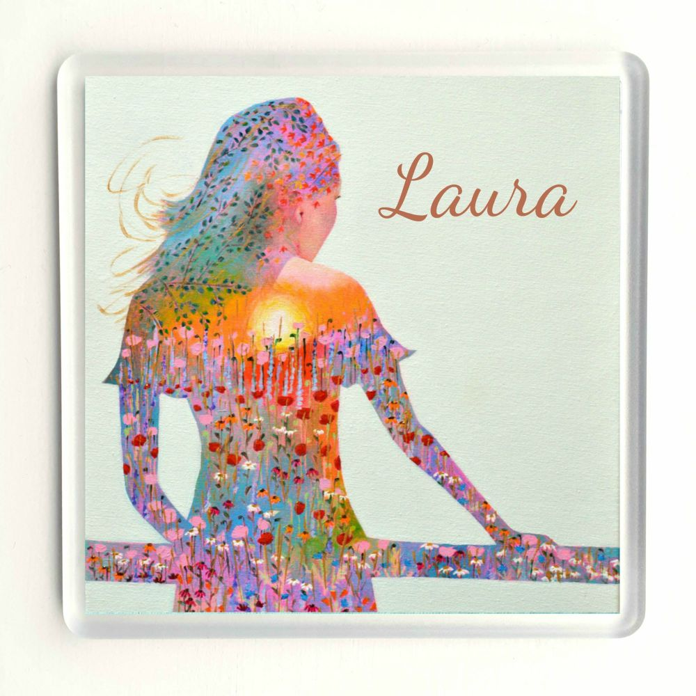 Personalised Sunshine Girl Coaster