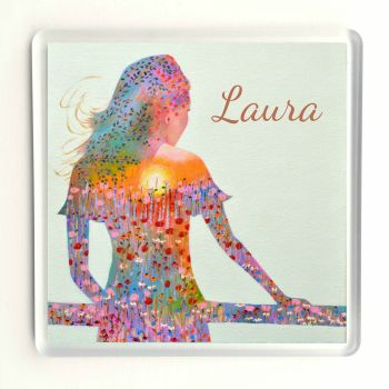 Sunshine Girl Coaster - Personalised