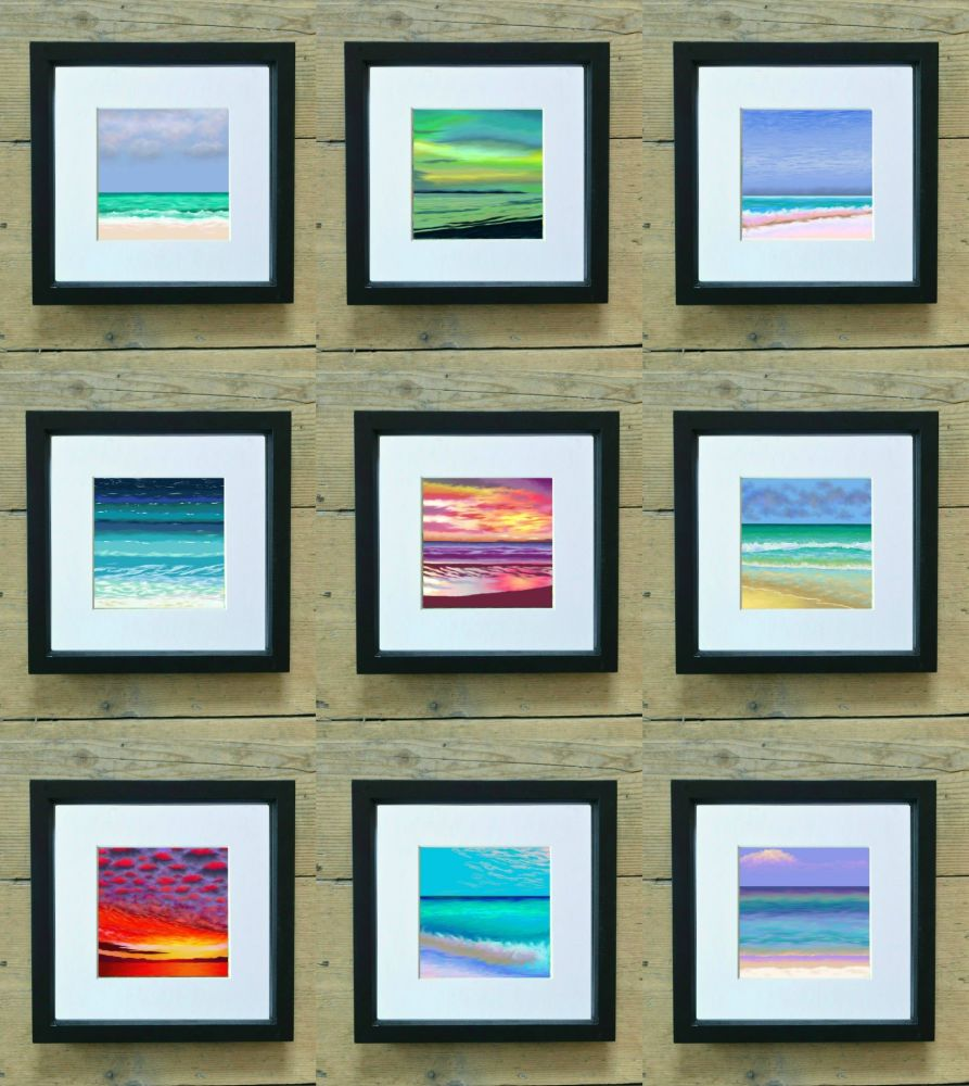 Set of Sea, Sand and Sunsets Mini Prints - Special Price