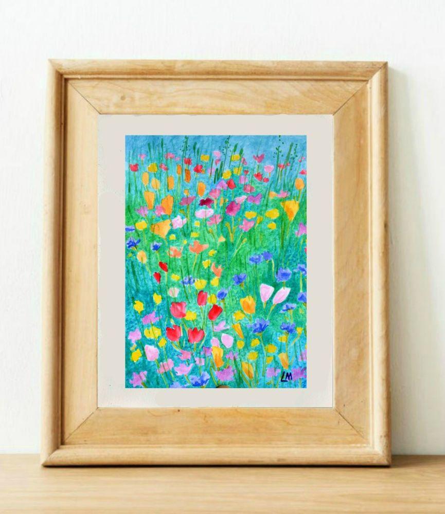 Wild Flowers Watercolour 2