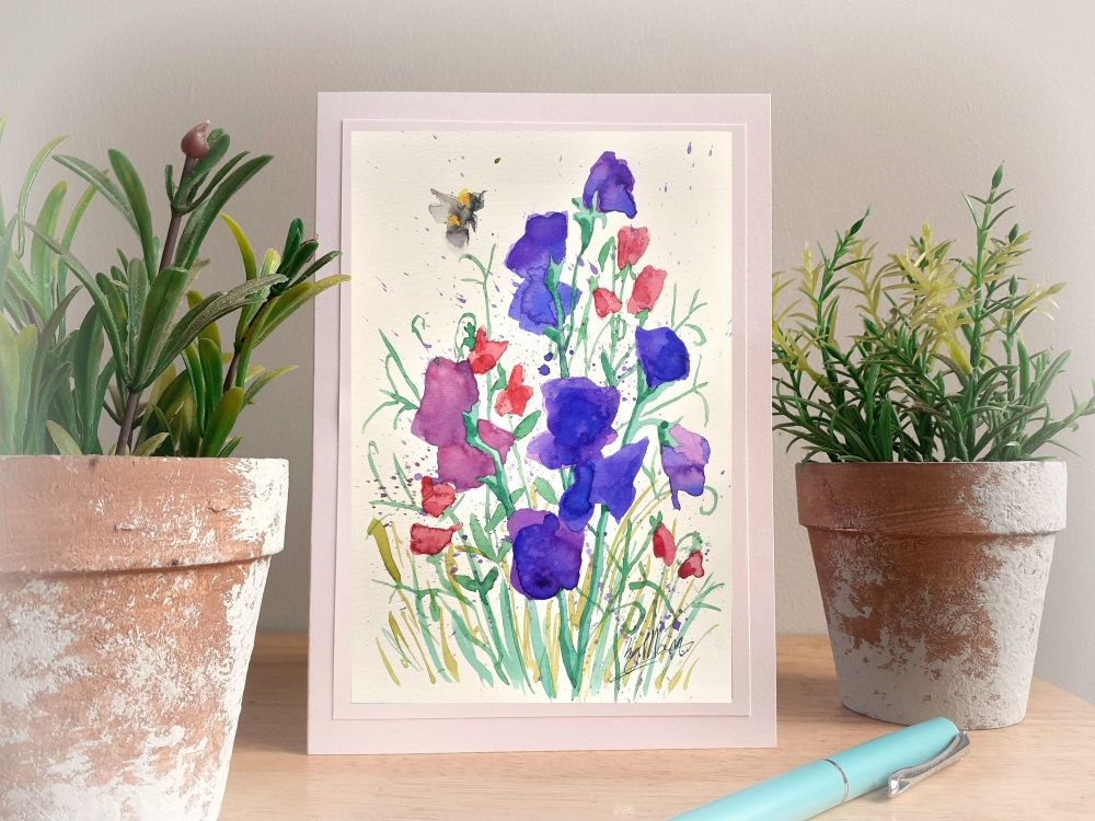 Sweet peas and Bee