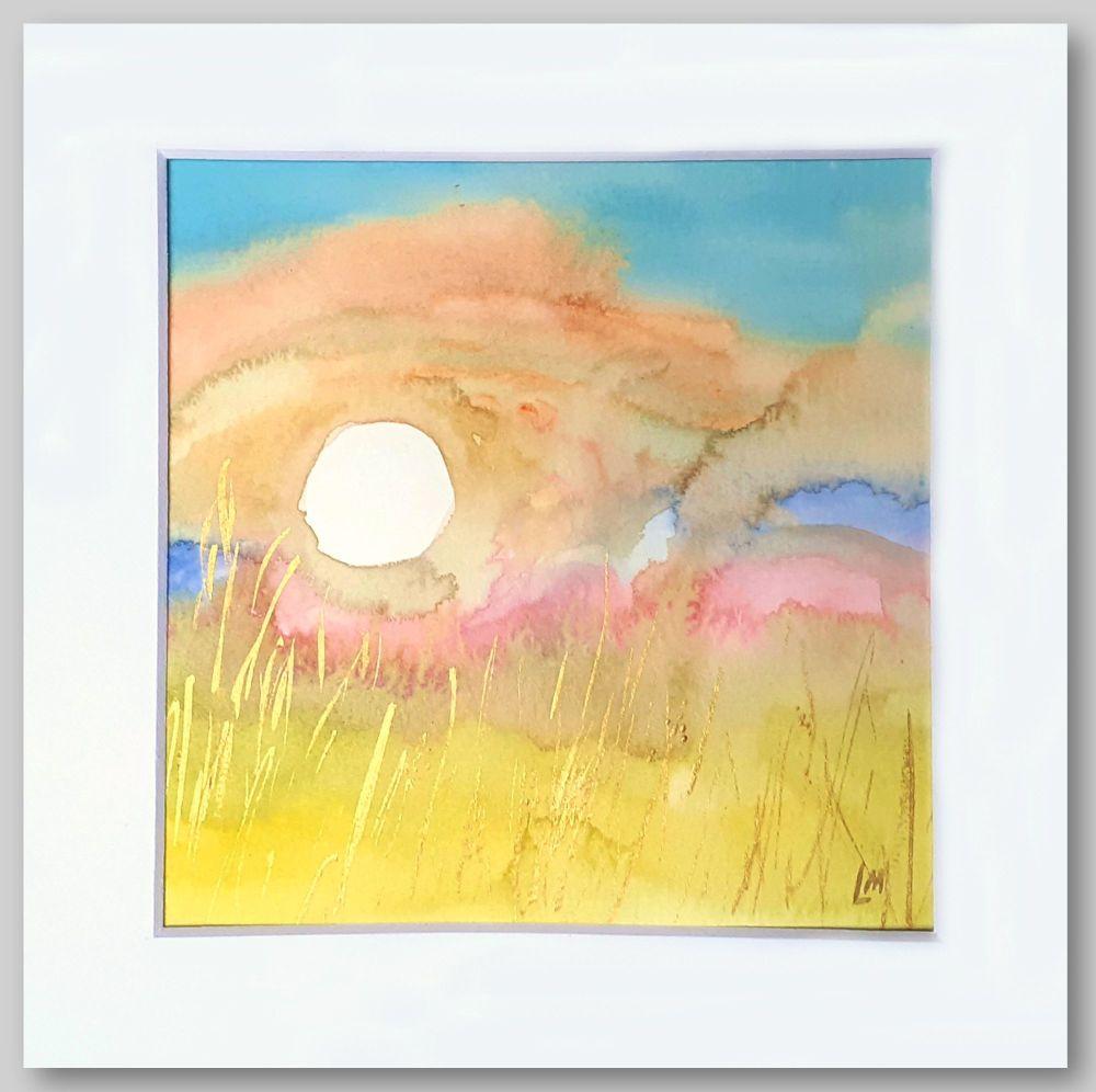 Sun Study 3 Original Watercolour