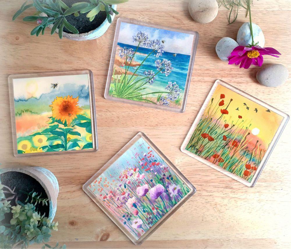 Flowery Landscapes Set