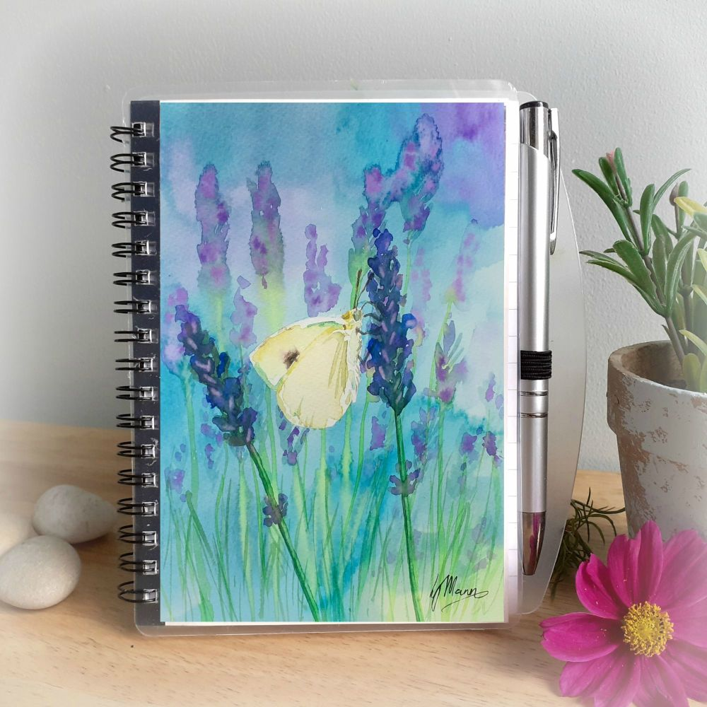 Cabbage White and Lavender Notebook