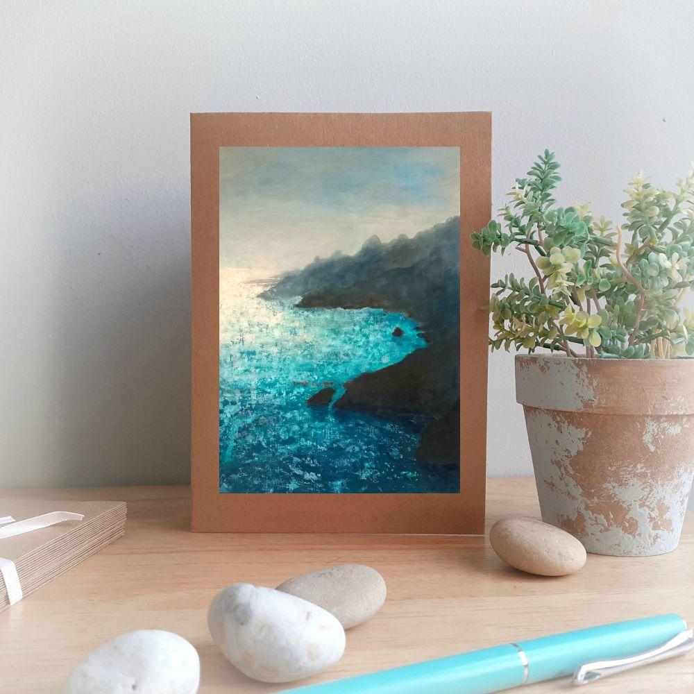 Glistening Sea Greetings Card