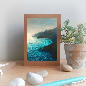 Glistening Sea Greetings Card