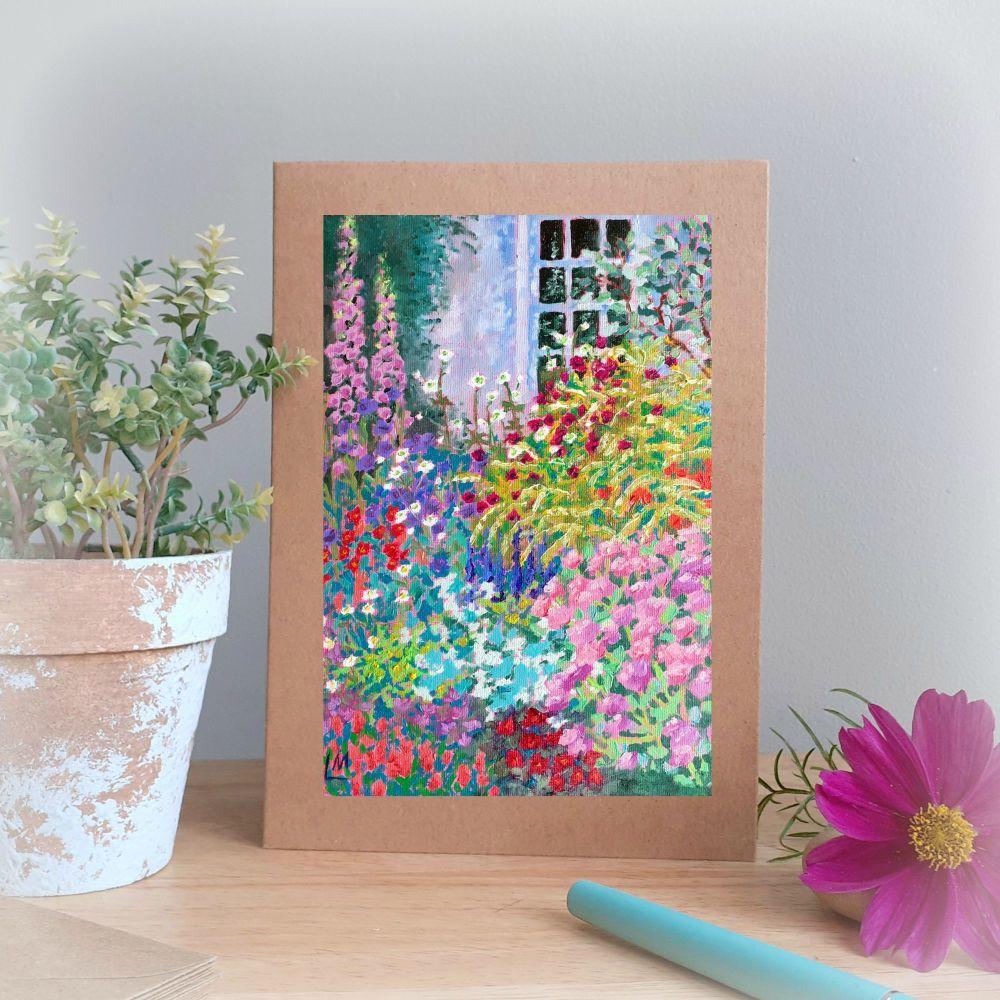 Garden with Foxgloves