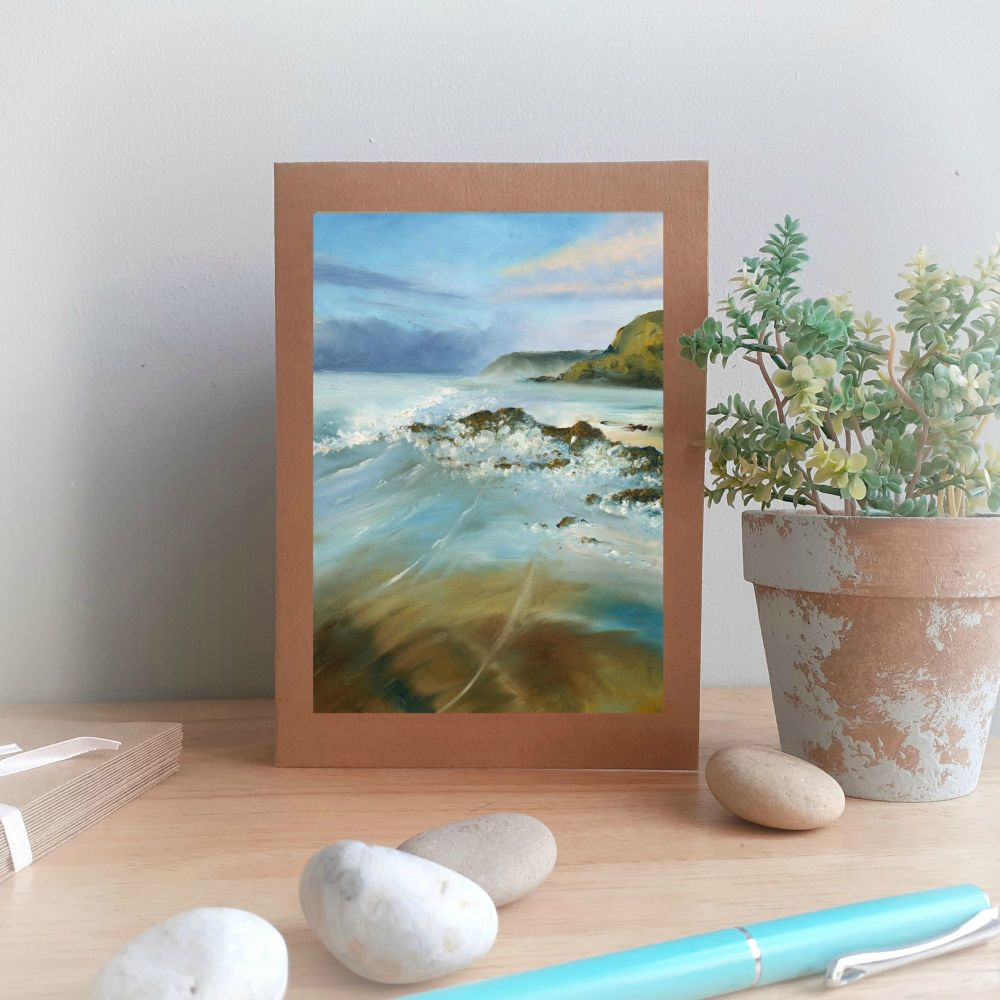 Rocky Shore Greetings Card