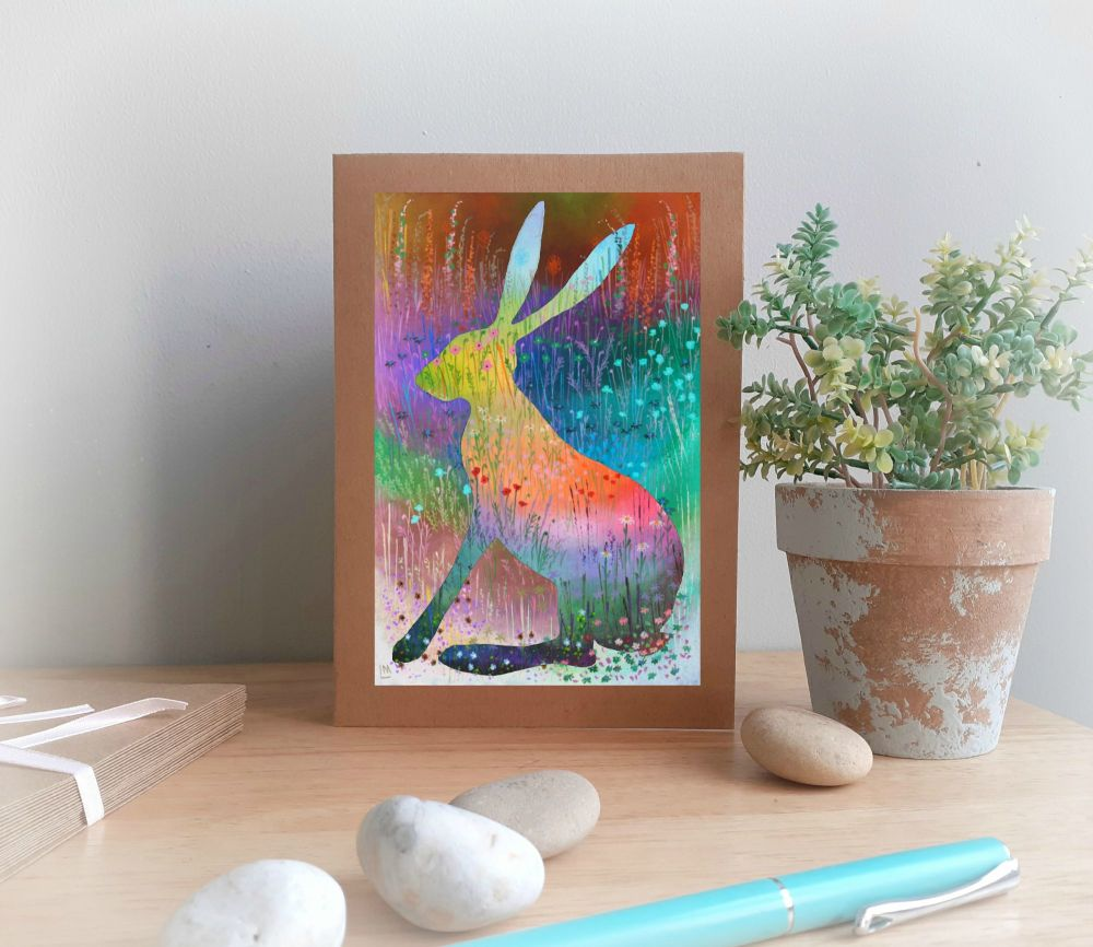 Summer Hare Greetings Card