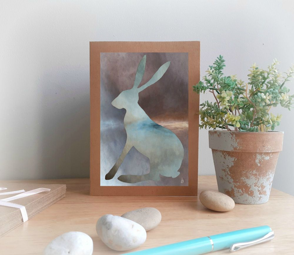 Misty Hare Greetings Card