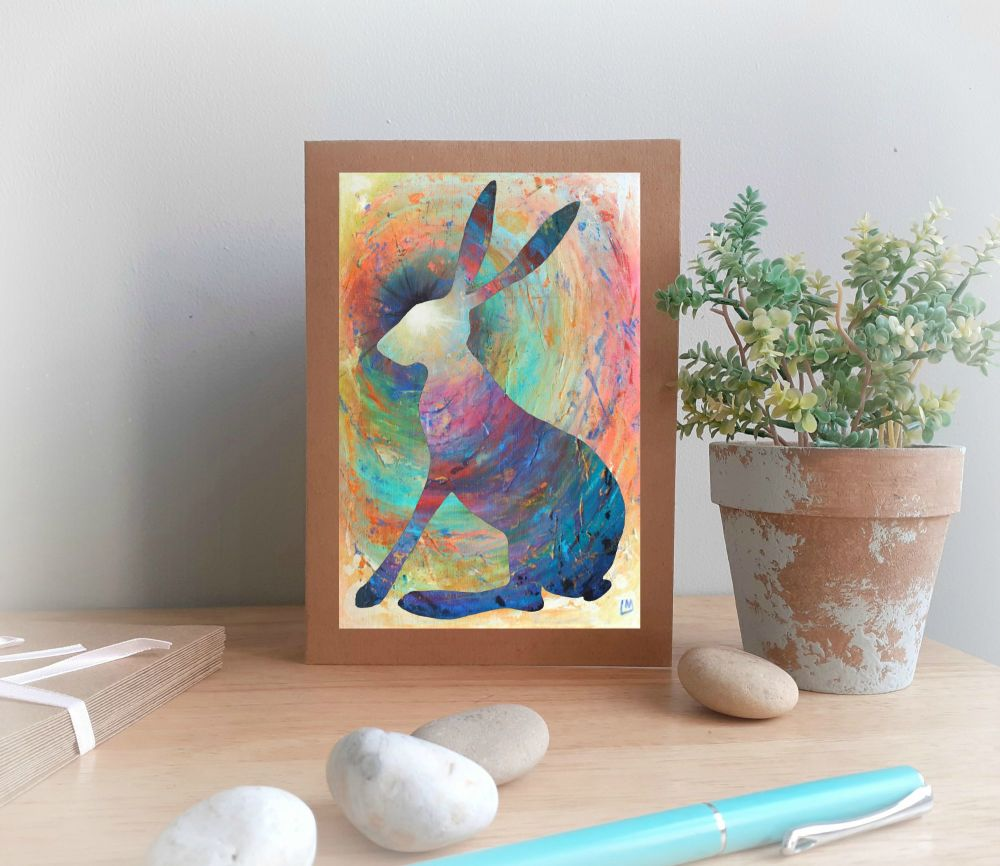 Bright Hare Greetings Card