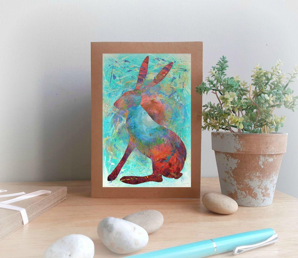 Glorious Hare Greetings Card