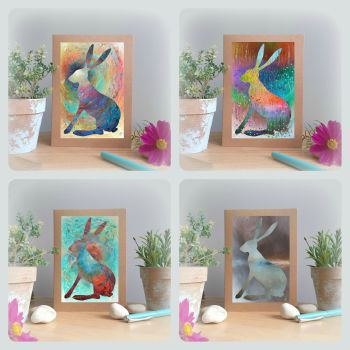 Special Offer - Four Hare Cards for £8