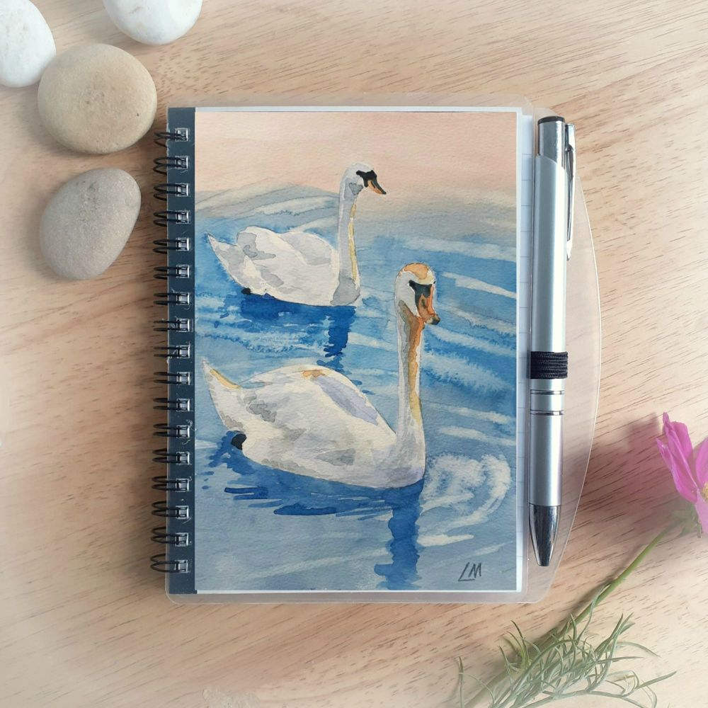Swans Notebook and Silver Pen