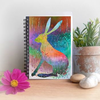 Summer Hare Notebook and Silver Pen