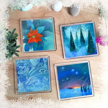 Set of Coasters - Winter Designs