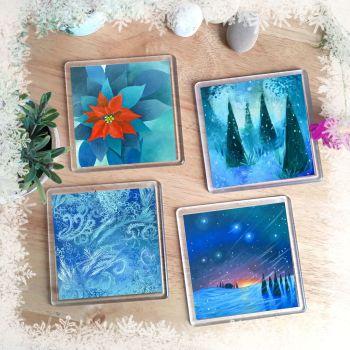 Christmas Set of Coasters