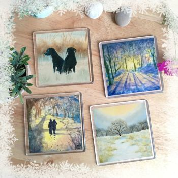 Winter Set of coasters