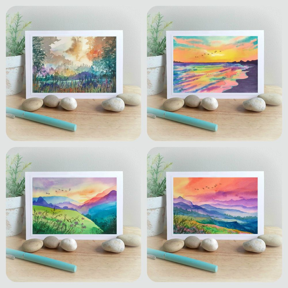 Special Offer - Four Landscape Cards for £8 with free UK postage