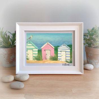 Beach Huts Framed Gift Print