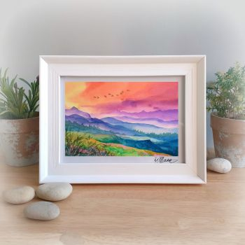 Mystery Mountains Framed Gift Print