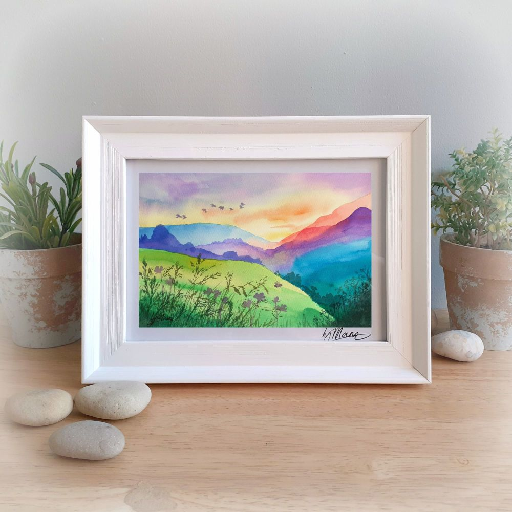 Colourful Mountains Framed Gift Print