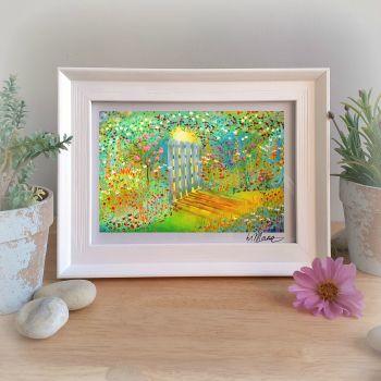 Garden Gate Framed Gift Print