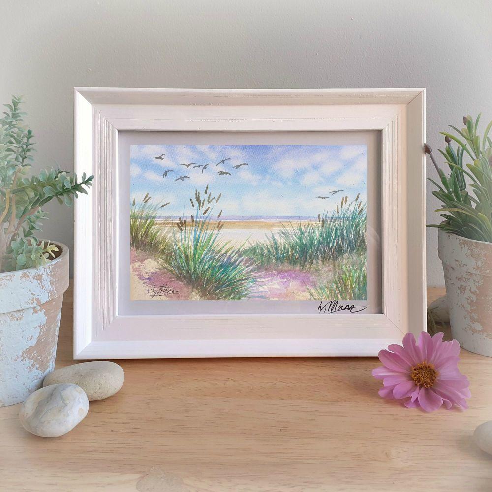 Holkham Sands Framed Gift Print