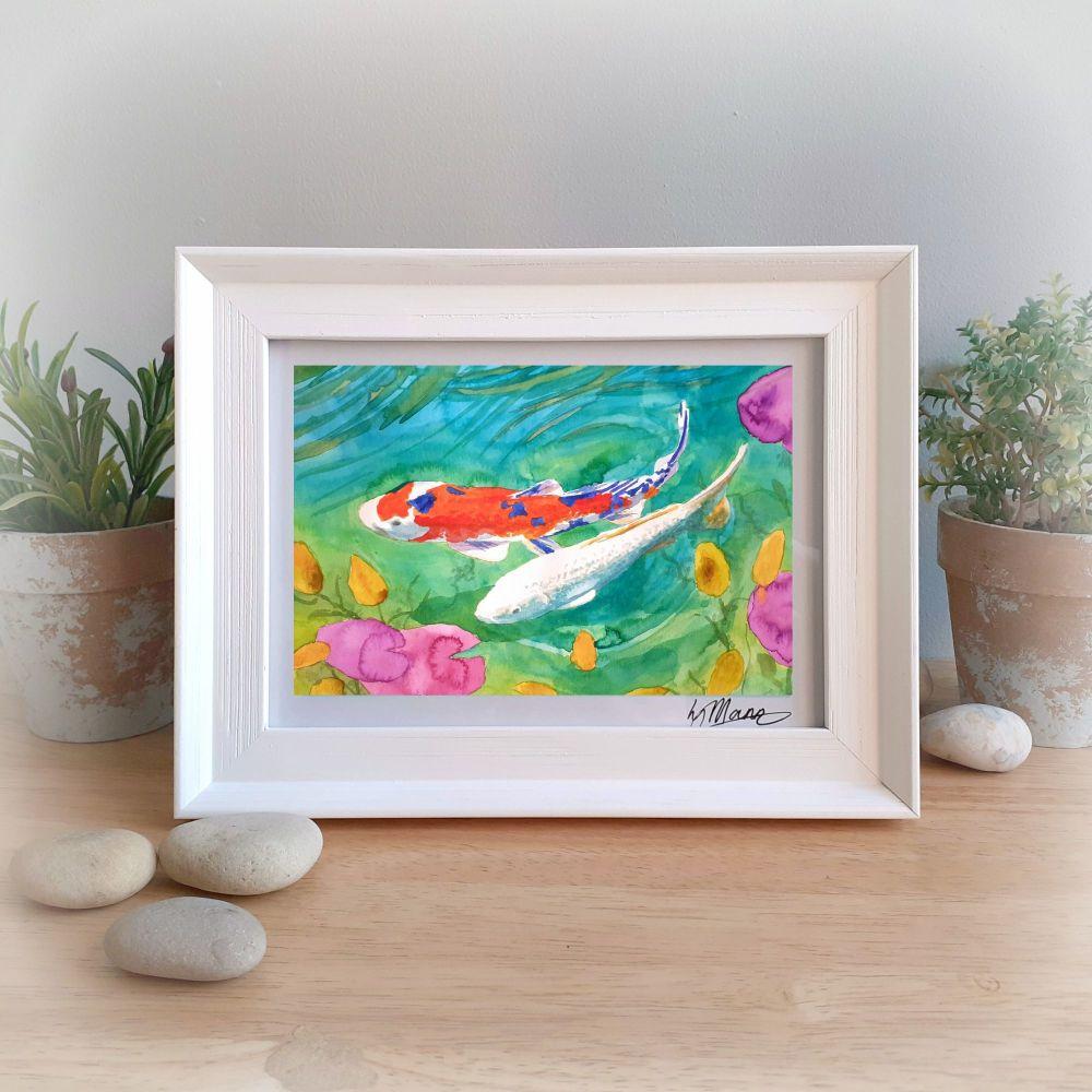 Koi Two Framed Gift Print
