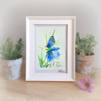 Blue on Blue Framed Gift Print