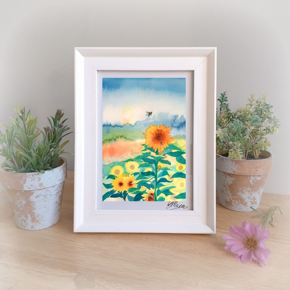 Sunflowers Framed Gift Print