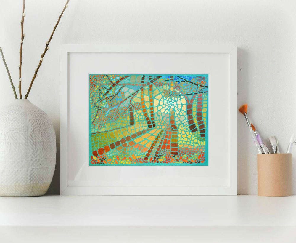 Forest Mosaic Print