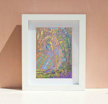Mosaic Forest Print 2