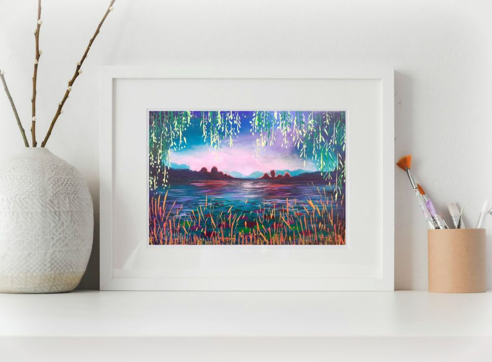 Through the Willows Print