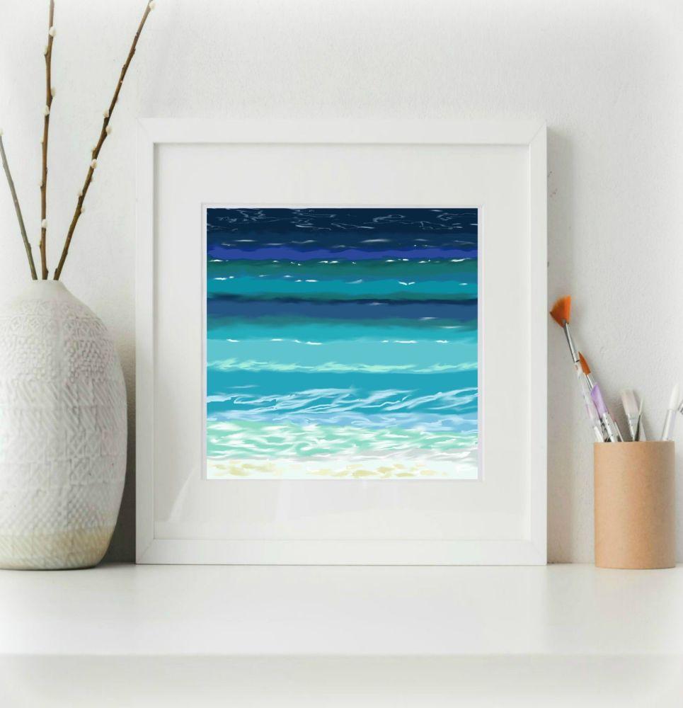 Sea and Sand 7 Print