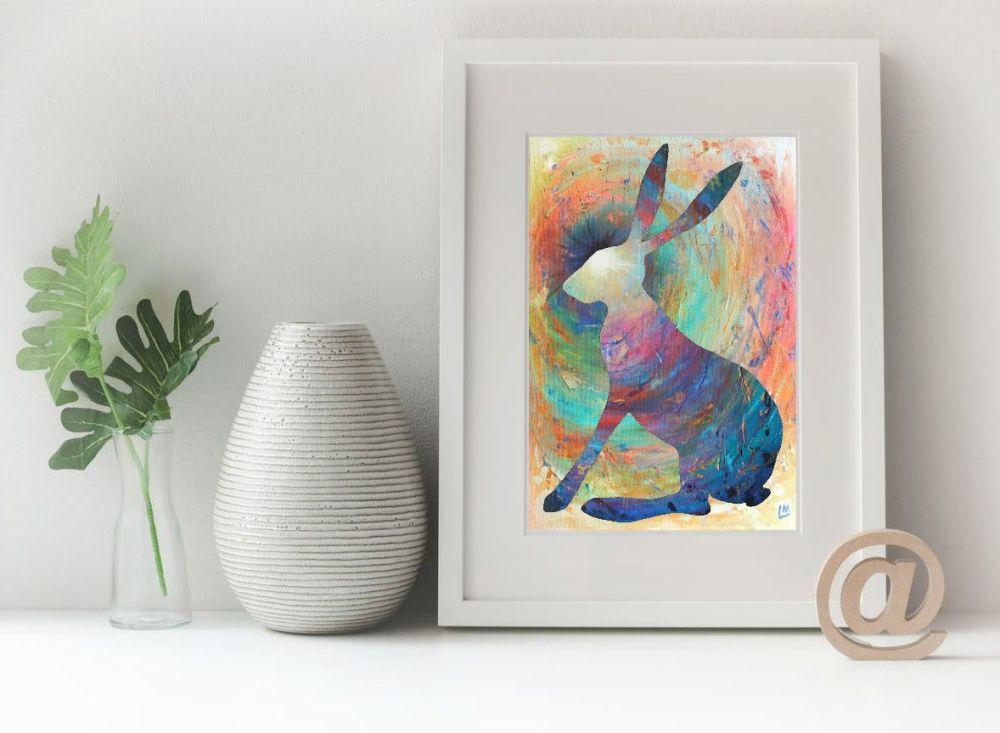 Hare Print - Bright Hare