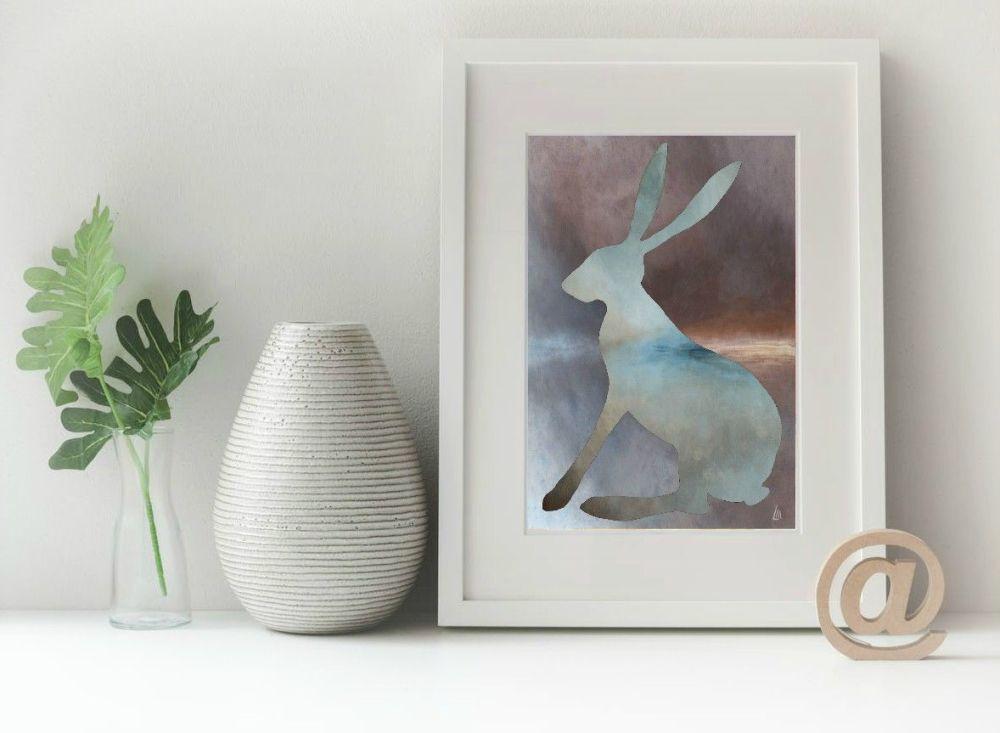 Hare Print - Misty Hare