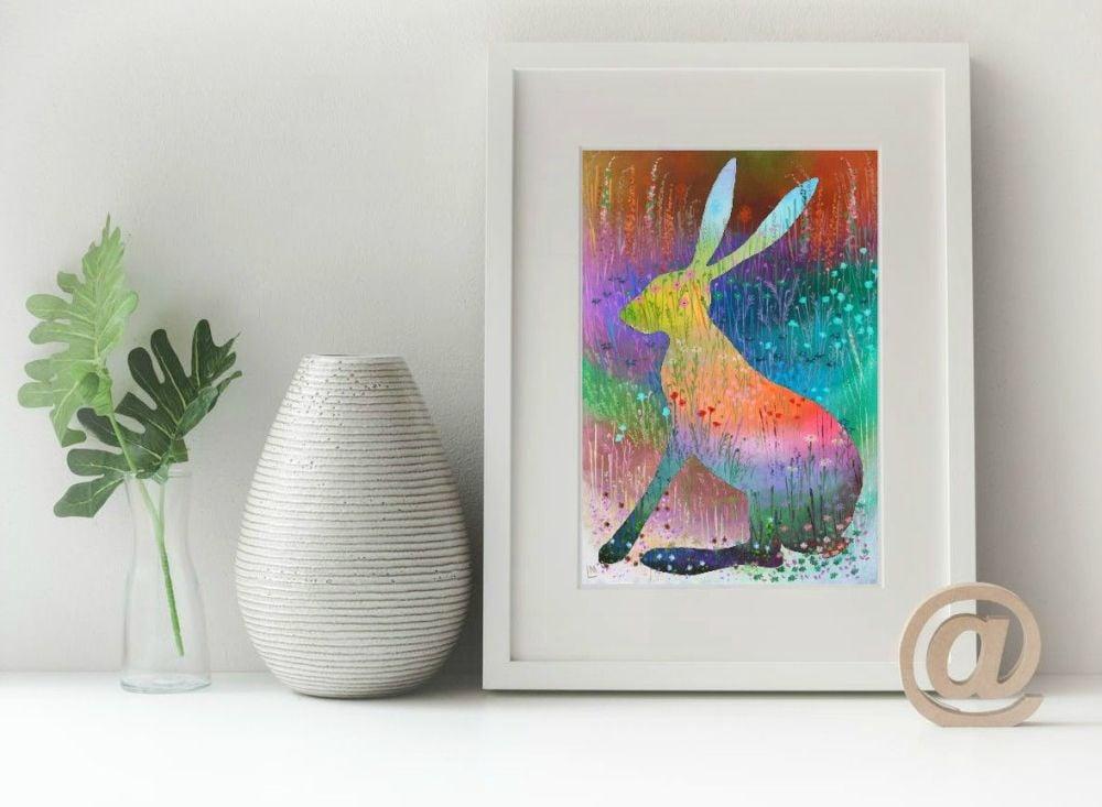 Hare Print - Summer Hare