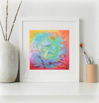 Scattered Rainbow Print