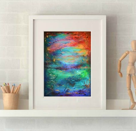 Vivid Storm Print
