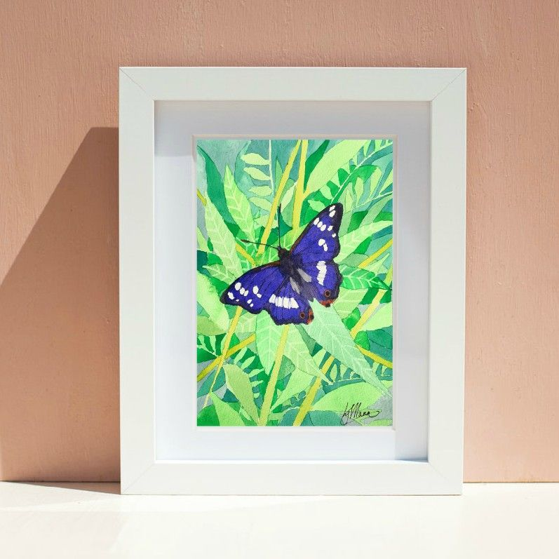 Purple Emperor Butterfly Print