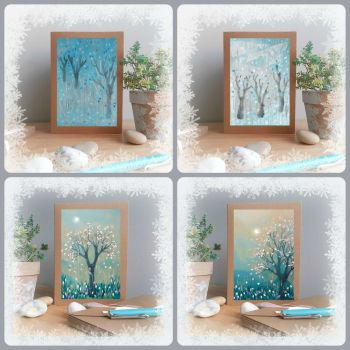 Special Offer - Four Winter Trees Cards for £8