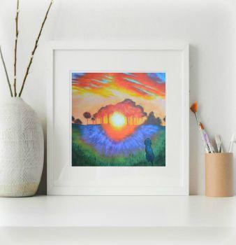 Watching the Sunset Print