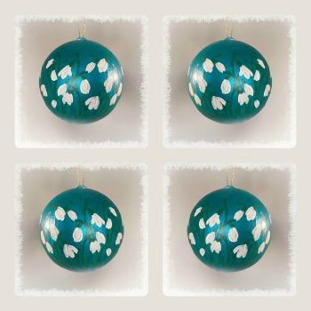 Hand painted Snowdrop Baubles -Special Offer - Four for £20
