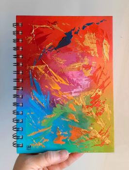 Hand Painted Unique Notebook (reduced due to slight damage)
